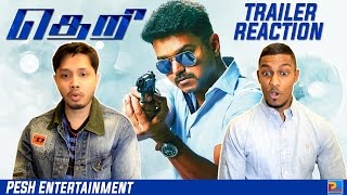 Theri Trailer Reaction & Review   Vijay   English Subtitles   PESH Entertainment