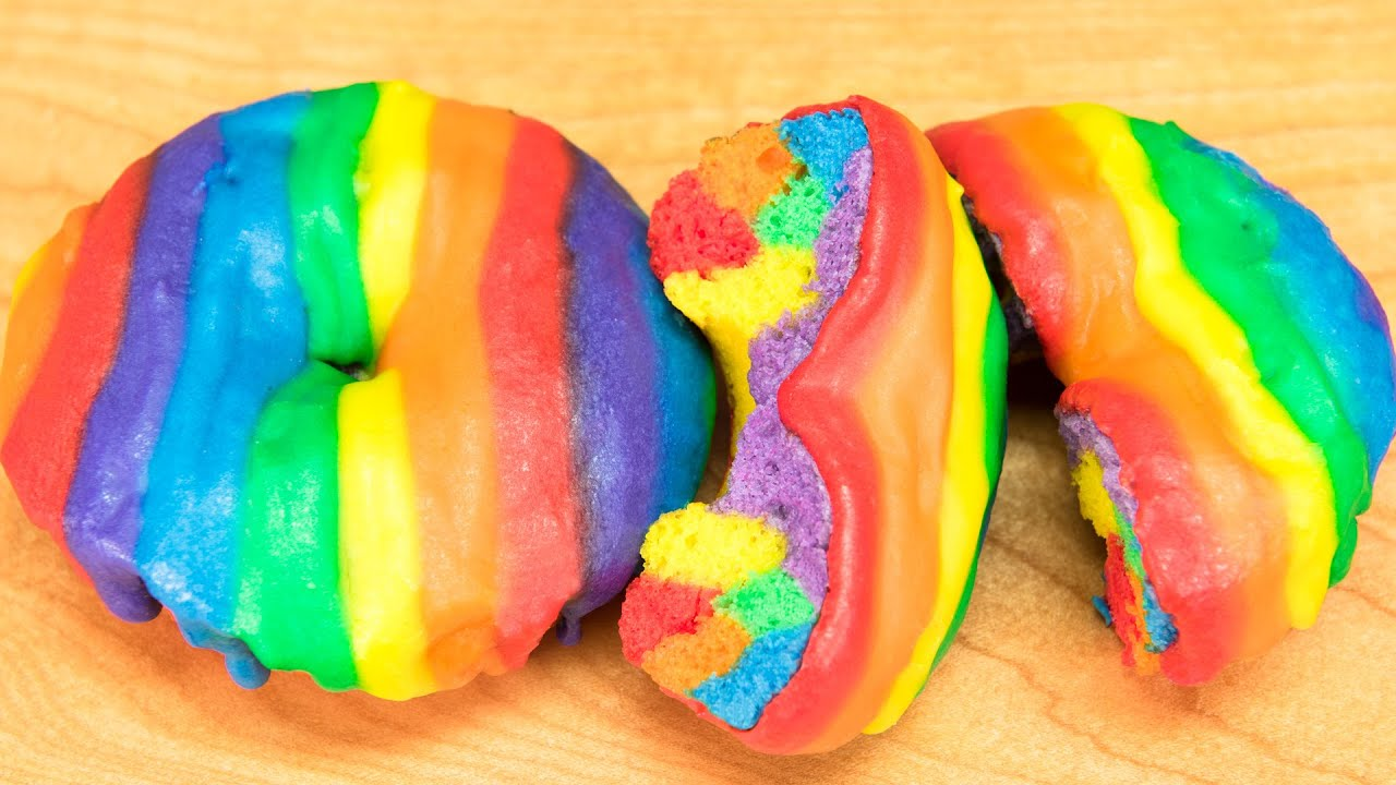 Image result for rainbow donut