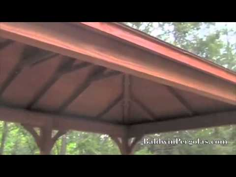 Wooden pavilion outdoor office