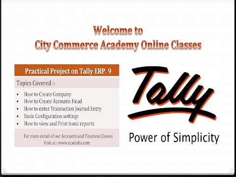 Tally ERP 9 Full tutorial with practical Project & practice