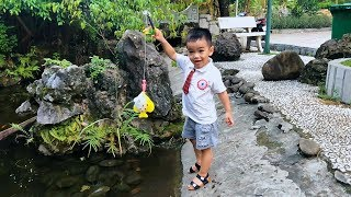 Pretend Play Fishing Toys in Real Life! Let's Go Fishing Game Toy For Kids