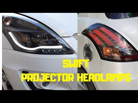 Install Swift Aftermarket Headlamps And Tail Lamps.