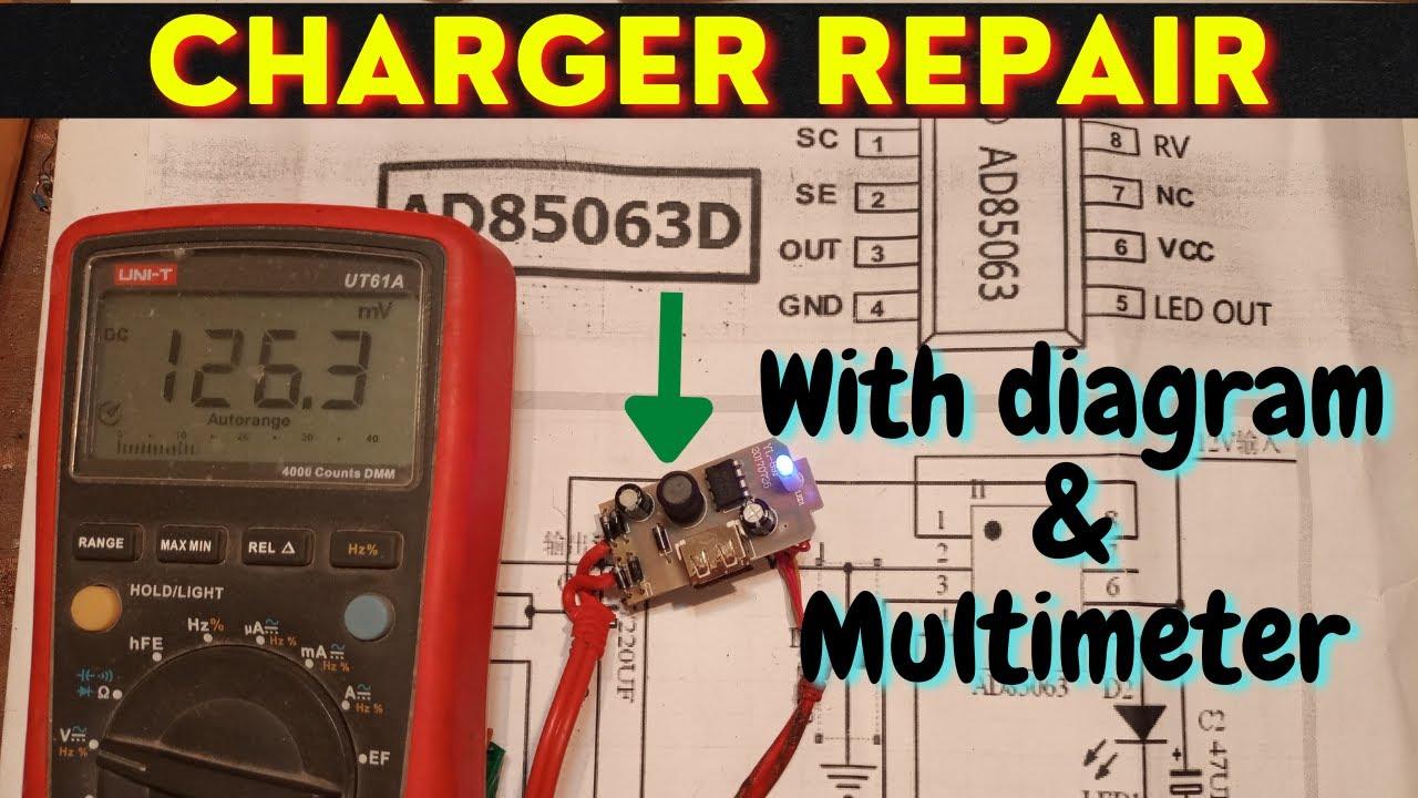 12V Mobile phone charger repair Hindi Urdu. Samsung USB Charger Failure and Repair. Interlink 85063