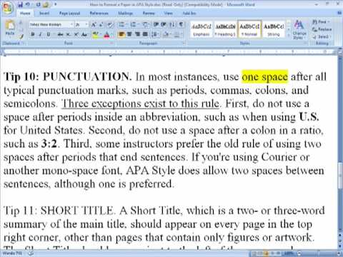 How to Format a Paper in APA Style - YouTube