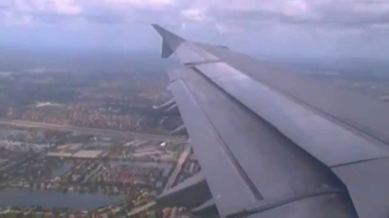 Spirit airlines a321 landing in ft lauderdale fll youtube for Spirit airlines new york