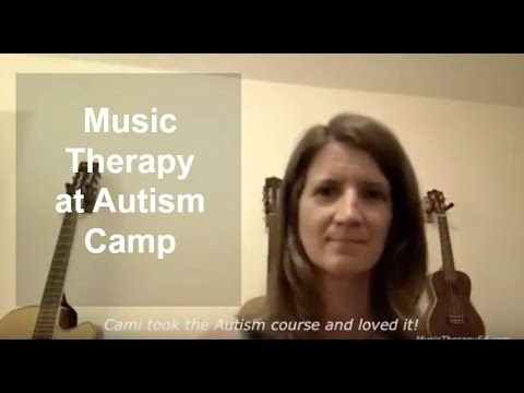 Music therapy at autism camp: I learned new ways to address domain areas thanks to Amy