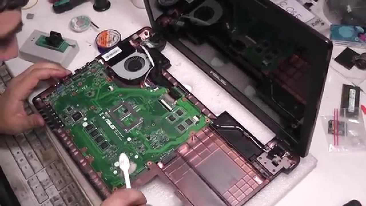 инструкция разборка ноутбука asus x55v