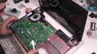 Ремонт Asus X55VD не біос, бита пам'ять відключаємо POST 55