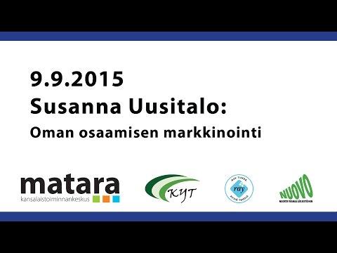 Susanna Uusitalo - Oman osaamisen markkinointi