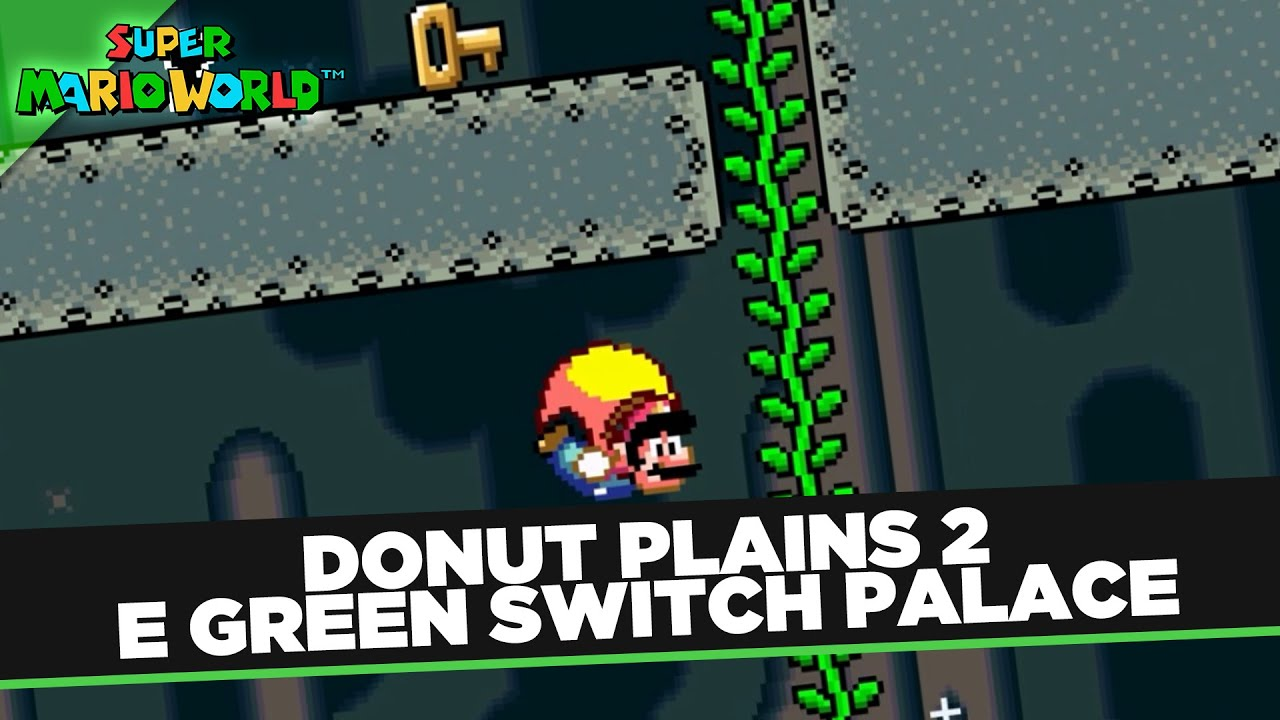 Donut Plains 2 E Green Switch Palace Super Mario World Snes No