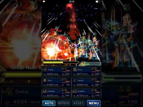 Brave Exvius Global - Great Nian Beast Attack! - ELT - No TM - No base 5 Star - No OP Friend