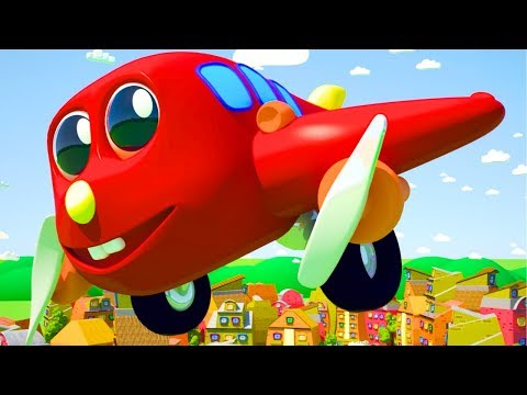 THE WHEELS ON THE PLANE GO ROUND AND ROUND ALL THRU THE TOWN CHILDREN RHYME  BY SMART BABY SONGS