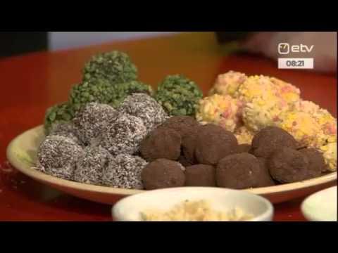 Šokolaaditrühvlite valmistamine ETV Terevisioonis 21.11.2014