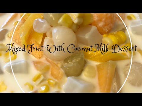 Lao\Thai Dessert [Shorter Version]: How I Make Mixed Fruit With Coconut Milk Dessert