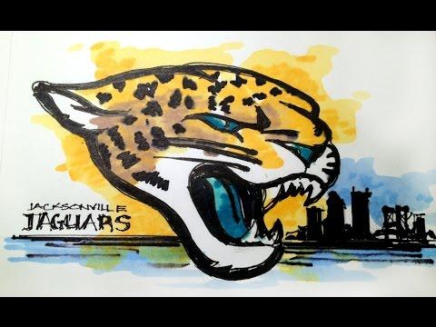 NFL Football Series:  Jacksonville Jaguars Time Lapse Drawing