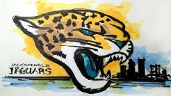 NFL Football Series:  Jacksonville Jaguars Time Lapse Drawing