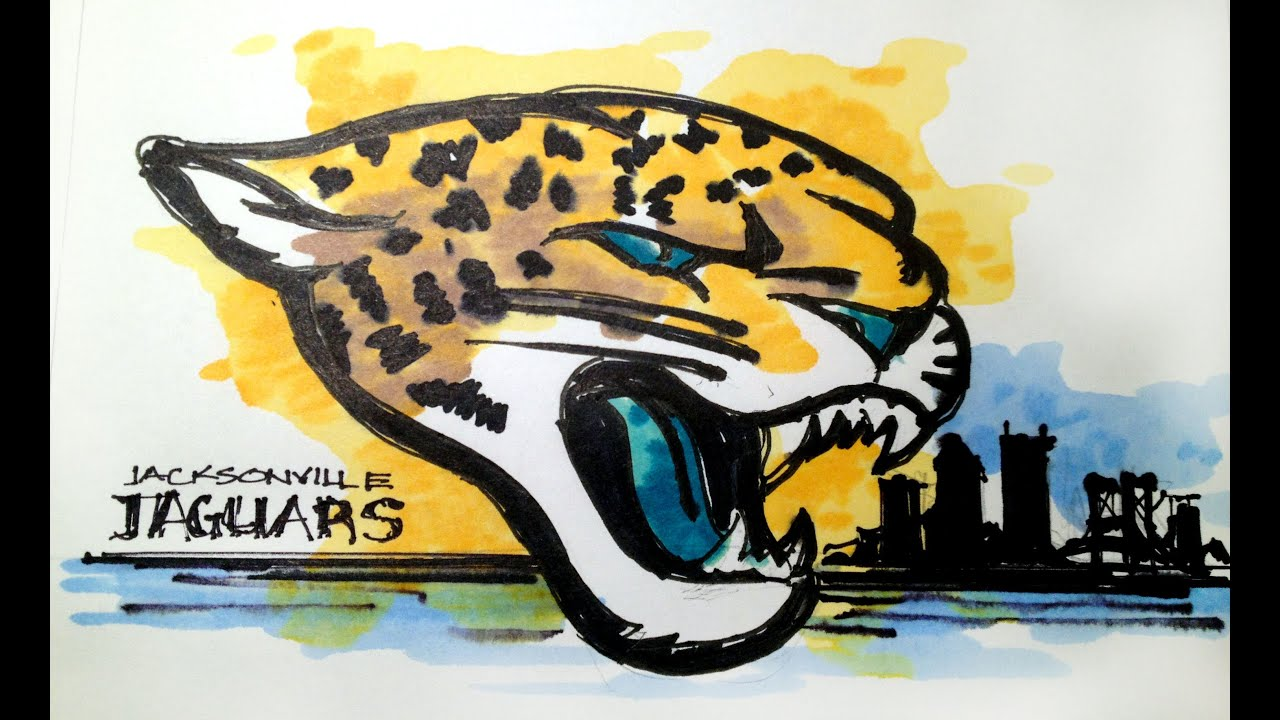 NFL Football Series: Jacksonville Jaguars Time Lapse Drawing   YouTube
