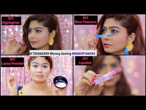 8 NEW Money Saving MAKEUP HACKS - Lipstick, Eyeliner, Mascara, Nail Polish | Rinkal Soni thumbnail