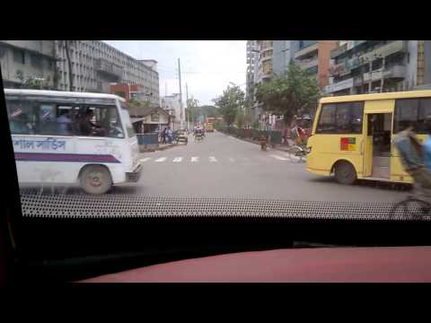 Almost Hit the Rikshaw | Dhaka City Drive Tour 02 | Motijheel to Shewra para |