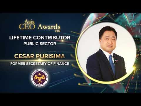 Lifetime Contributor Award Public Sector Cesar Purisima