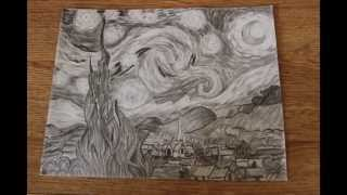 starry night drawing