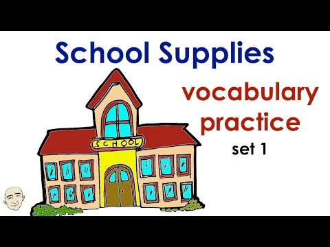 School Vocabulary | Set 1 | Easy English Conversation Practice | ESL | EFL