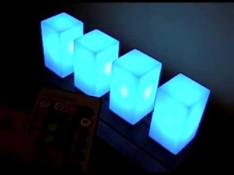 Led color l mpara de leds con control remoto youtube - Lamparas solares de led ...