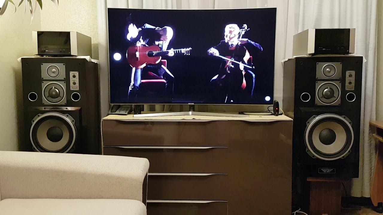 Как подключить к телевизору КОЛОНКИ - На примере акустической .