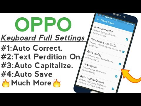OPPO Full Keyboard Settings Enabling Prediction, Auto Correct Settings