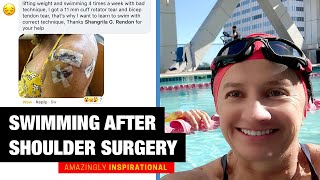 How Claudia's Swim Improved by 15% even after shoulder Surgery! | Motivational Triathlete Stories