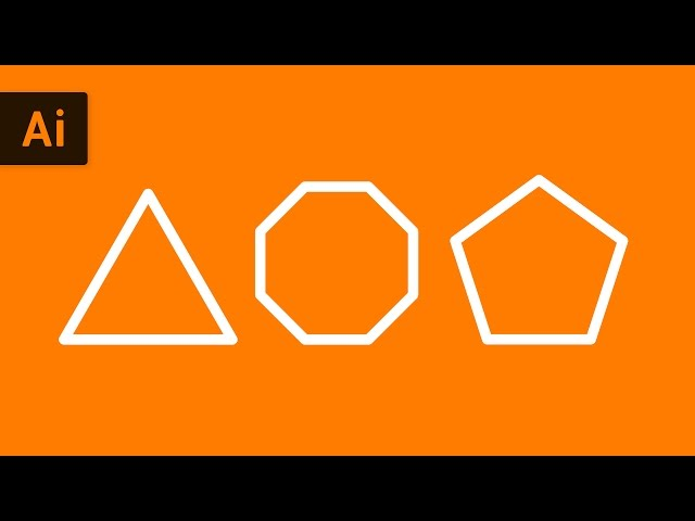 How to Make Shapes with the Polygon Tool | Illustrator Tutorial