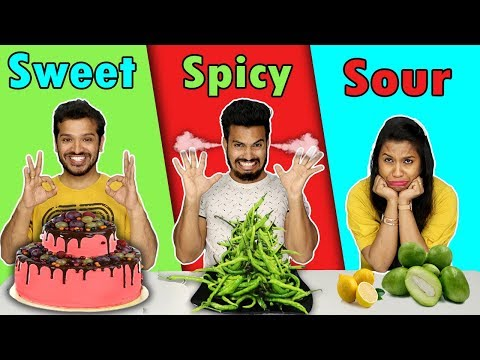 Sweet vs Spicy vs Sour Food Challenge | Hungry Birds
