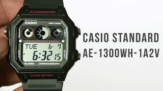 casio standard ae 1300wh 1a2v unboxing