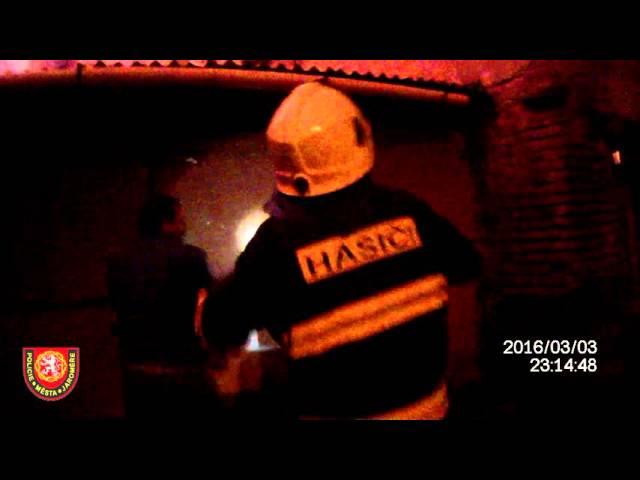 Požár Lidická ulice Josefov