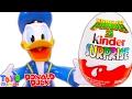 Disney Donald Duck Sürpriz Yumurta Açma Kung Fu Panda 3 Kinder Surprise Eggs Yeni Oyuncak ToysMiredo