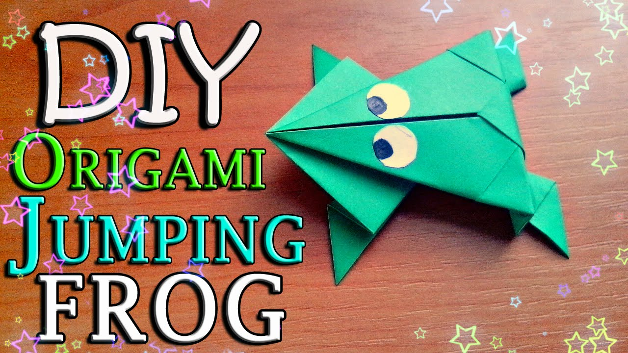 DIY How To Make Easy Origami Toy Jumping Frog From Paper For Children Craft Tutorial Kids