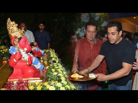 Salman Khan Performs Ganesha Aarti -...
