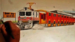 BRC WAP5 Double decker raising dust through Kelve Road - Sketching