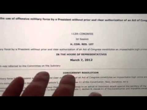 Obama Impeachment Exposed Media Cover-up ∞ Congress has no Authority for War UN Nato
