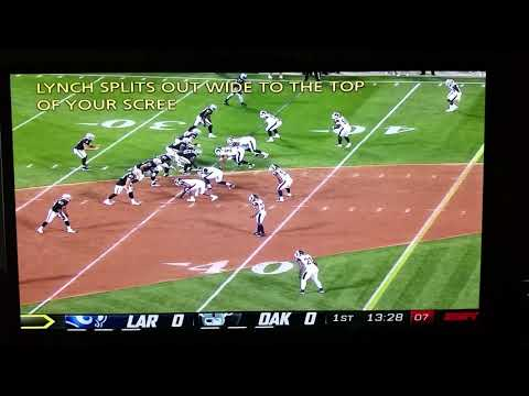 Jared Cook #87 45yd reception Raiders/Rams