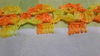 Barrados de crochê para fraldas de bebê – Espanhol
