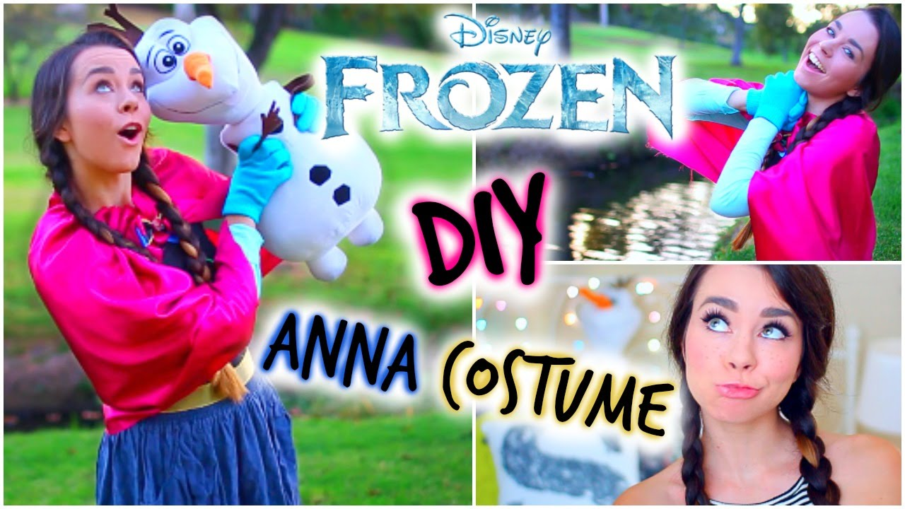 Diy frozen anna halloween costume easy affordable youtube solutioingenieria Choice Image