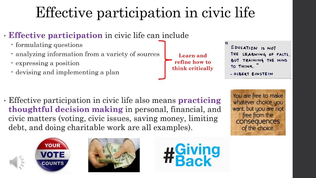 traits of a good citizen