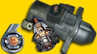 Emas, balki yigiruv starter Honda motor oqim. ''Garaj № 6''.  Ta'mirlash qo'llari bilan starter