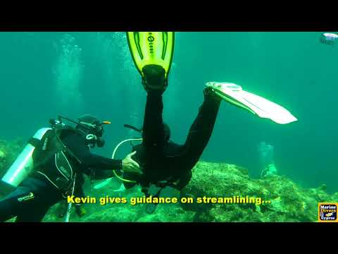 Scuba Diving with Marine Divers in Pistol Bay, Cyprus