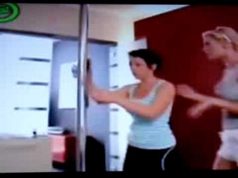 stripper pole epic fail - YouTube