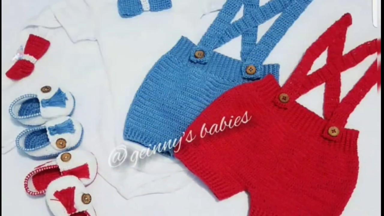Pantalon Corto O Short Tejidos Para Bebes 0 3 A Meses Parte 1 Recien Nacidos Tejidosgeinny Youtube