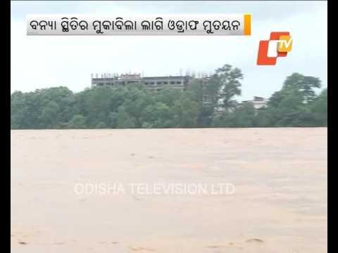 Flood situation in Binjharpur, Bari in Jajpur