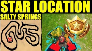 """Follow the treasure map found In Salty Springs"" Fortnite week 3 Treasure Map Location guide"