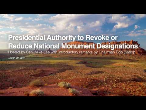 Presidential Authority to Revoke or Reduce National Monument Designations